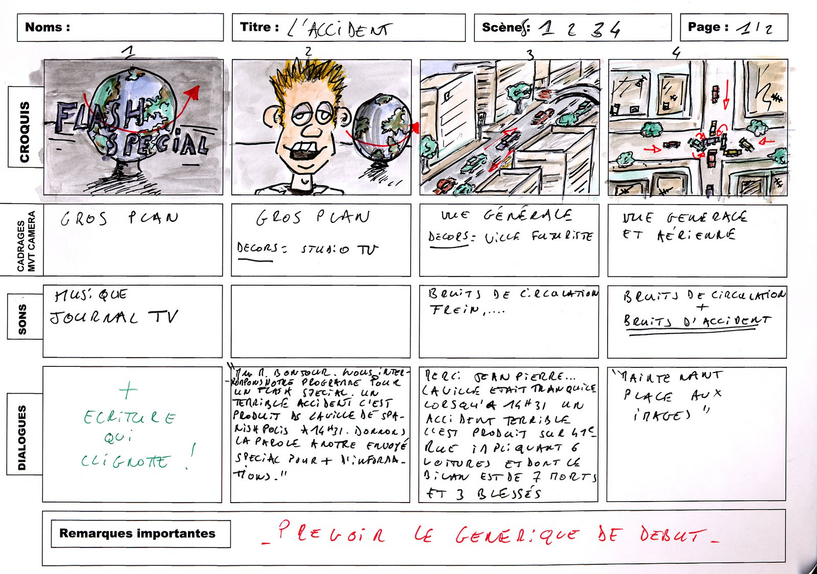 3 story board exemple
