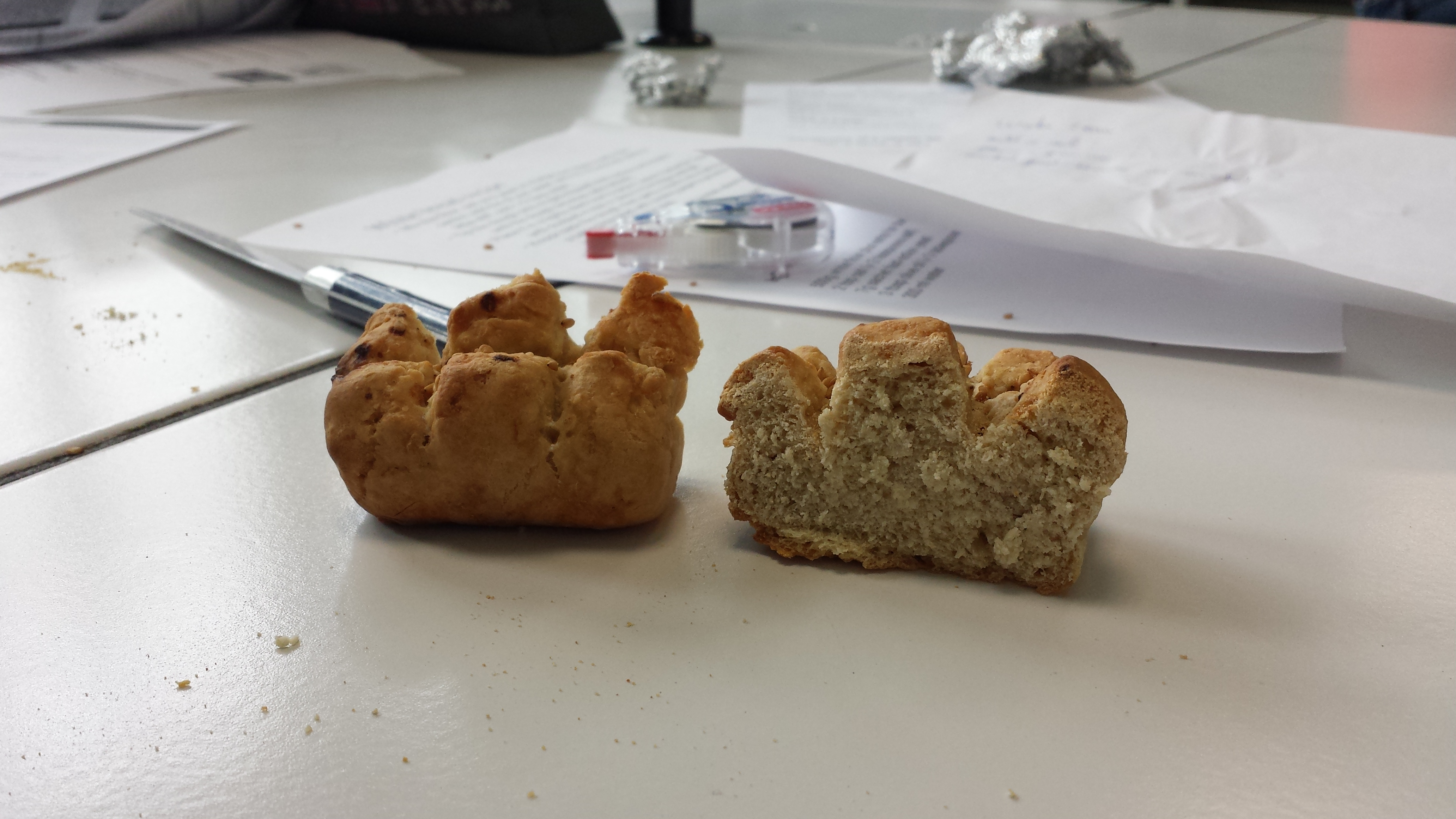 Un pain plutôt compact